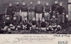 1906 Canton Bulldogs postcard